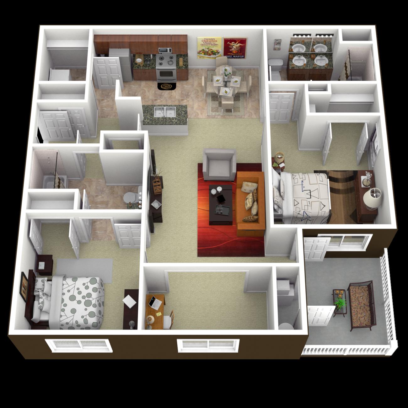 The Marina Floor Plan 3