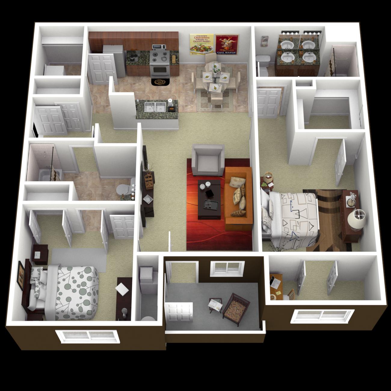 The Marlin Floor Plan 4