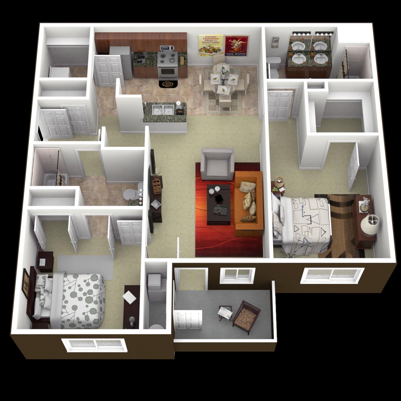 The Malibu Floor Plan 2