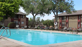Outdoor Pool at Sedona Ridge Apartments in Albuquerque