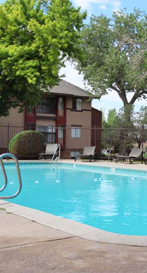 Pool at Sedona Ridge Apartments in Albuquerque