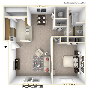 The Sycamore - 1 BR 1 BA
