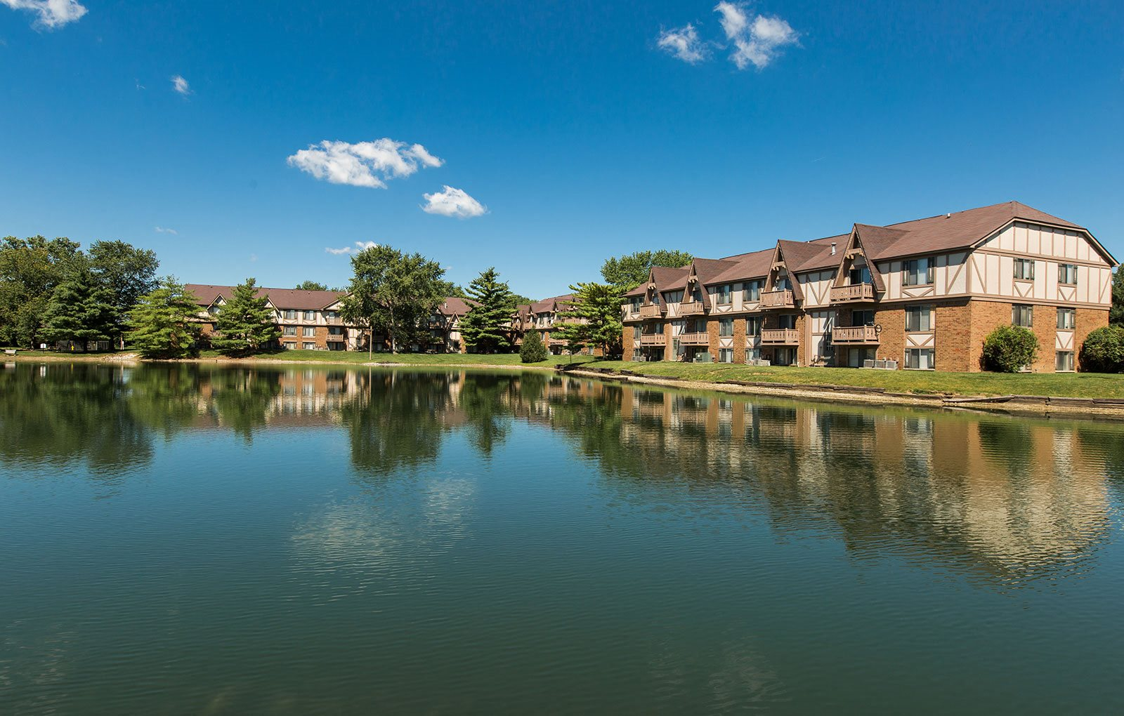 Scenic Lake Within Community at Bavarian Village Apartments, Indiana