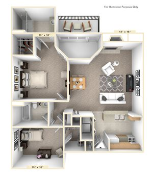 The North Star - 2 BR 2 BA
