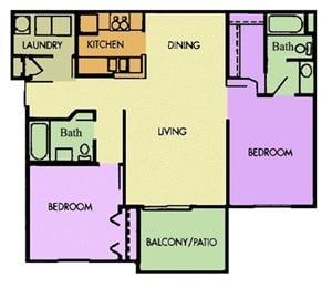 The Clydesdale 2 Bedroom 2 Bath