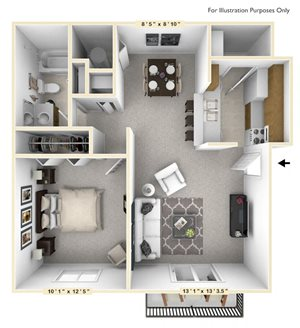 The Walnut - 1 BR 1 BA