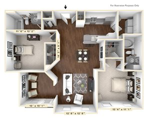 The Rodeo - 2 BR 2 BA