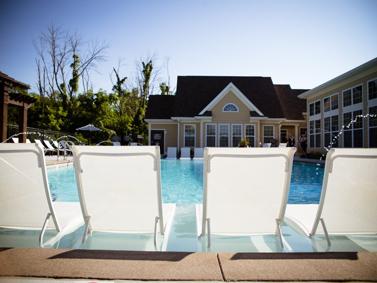 Relaxing Area And Swimming Pool, At Bella Vista Apartments, Fishers 46038