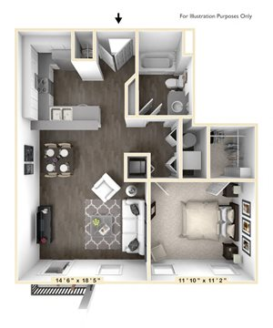 The Tensley - 1 BR 1 BA