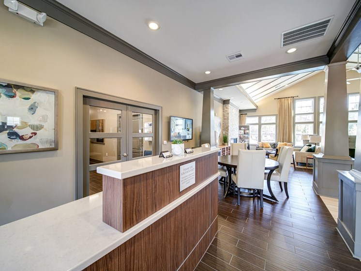 Clubhouse Concierge Desk at Avellan Springs Apartments, North Carolina, 27560