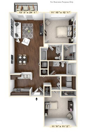 The Blackwell - 2 BR 2 BA