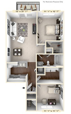 The Green - 2 BR 1 BA