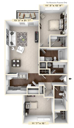 The Morgan - 2 BR 2 BA