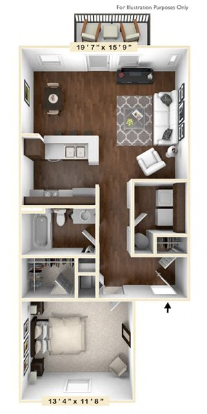 The Wright - 1 BR 1 BA