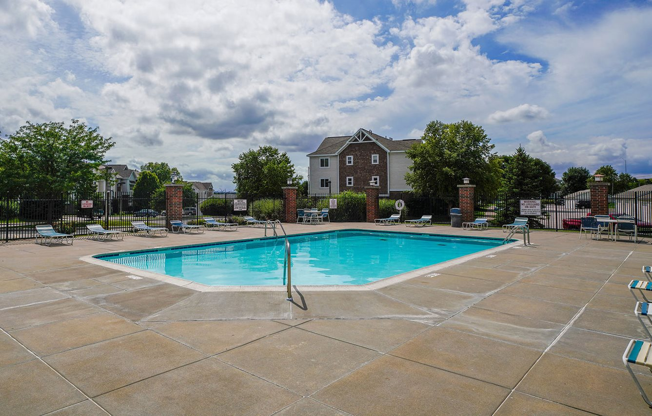 Outdoor Pool and Sundeck at Brentwood Park Apartments, near Omaha, NE