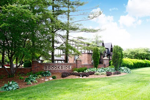 Welcome Signage at Brookside Apartments, Springfield, Michigan