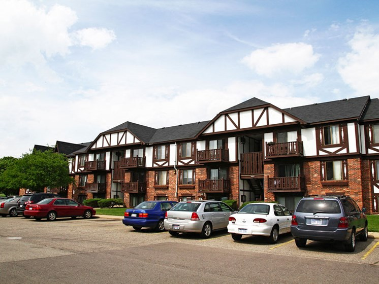 Huge Open Parking Space at Brookside Apartments, Springfield, Michigan