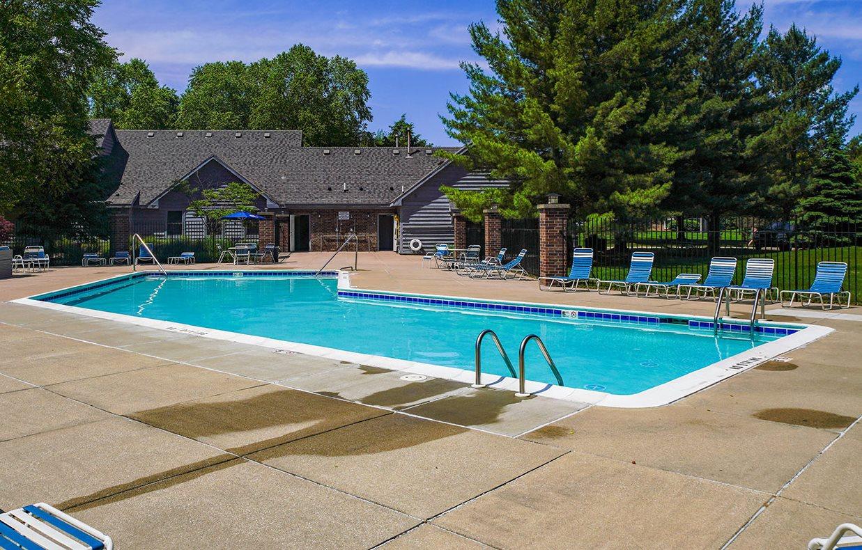 Outdoor Pool at Byron Lakes Apartments, Byron Center, MI