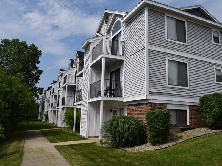 Walkways to Apartments at Canal Club Apartments, Lansing, 48917