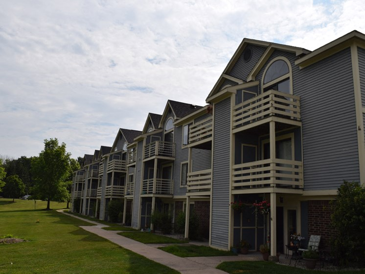 Large Private Balconies at Canal Club Apartments, Lansing, Michigan