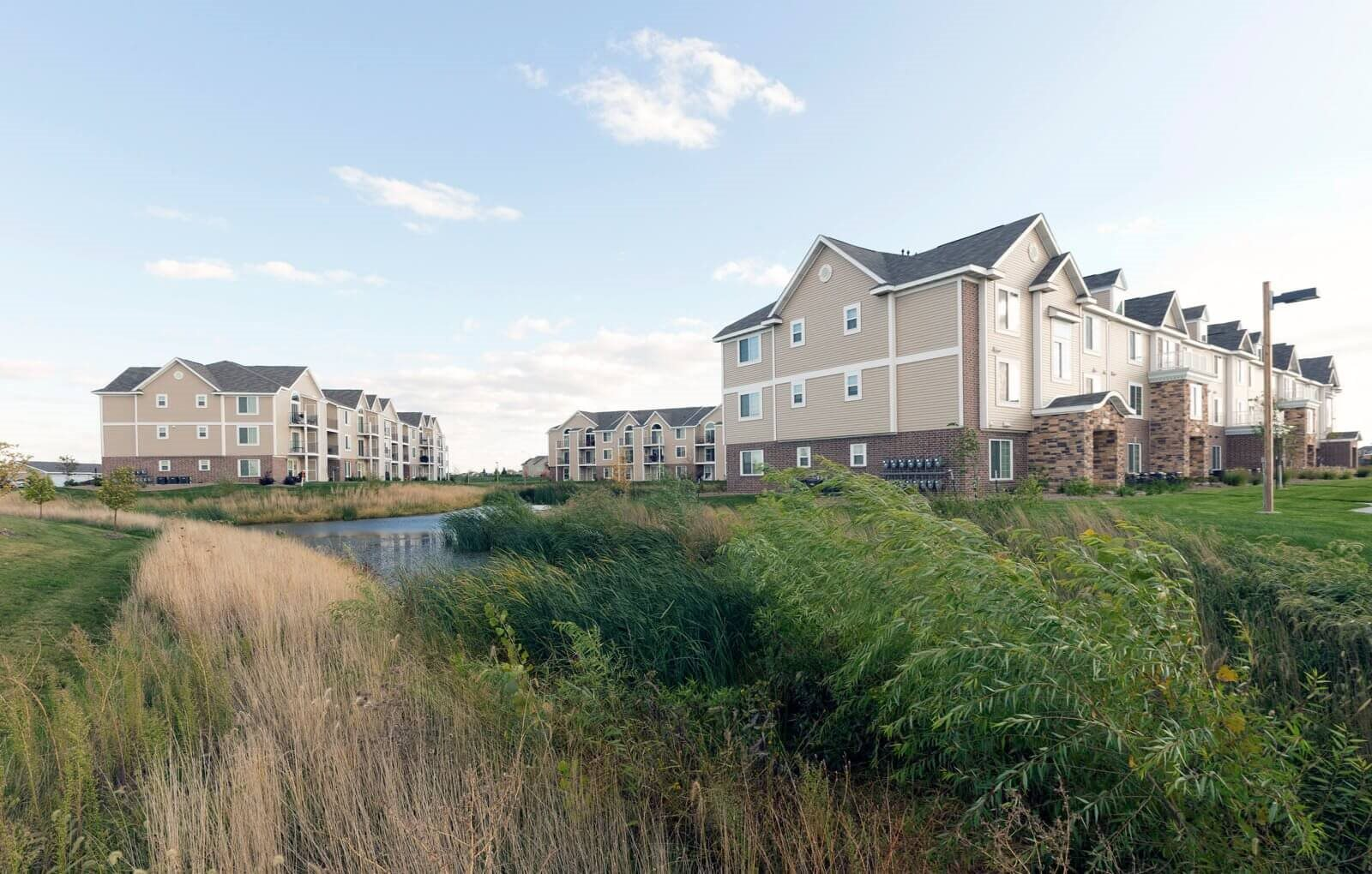 Lush Green Outdoor Spaces at Fieldstream Apartment Homes, Iowa