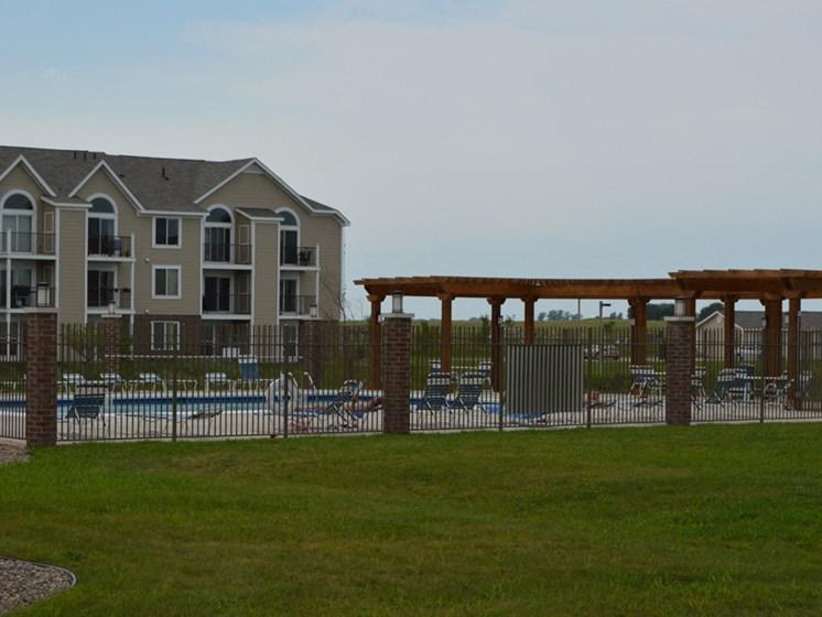 Perimeter Secured Swimming Area at Fieldstream Apartment Homes, Iowa, 50023
