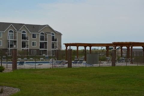 Perimeter Secured Swimming Area at Fieldstream Apartment Homes, Iowa, 50023