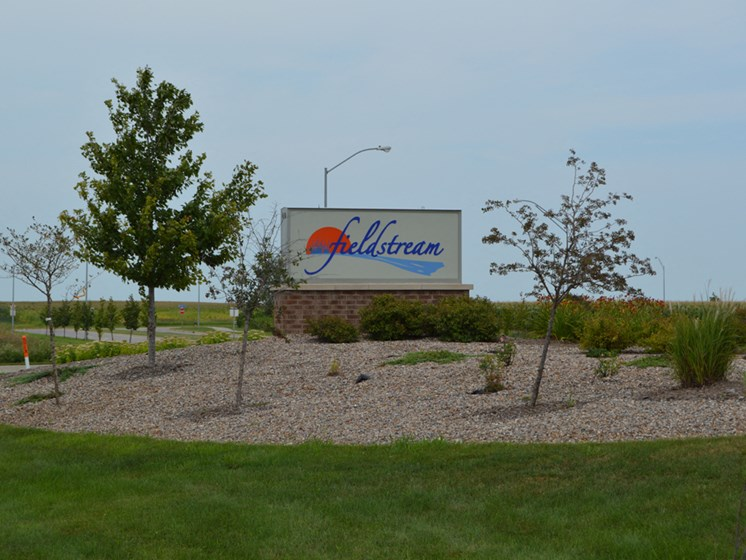 Decorated Property Signage at Fieldstream Apartment Homes, Ankeny, 50023