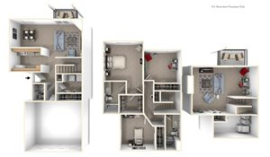 Three-bedroom Two-Story