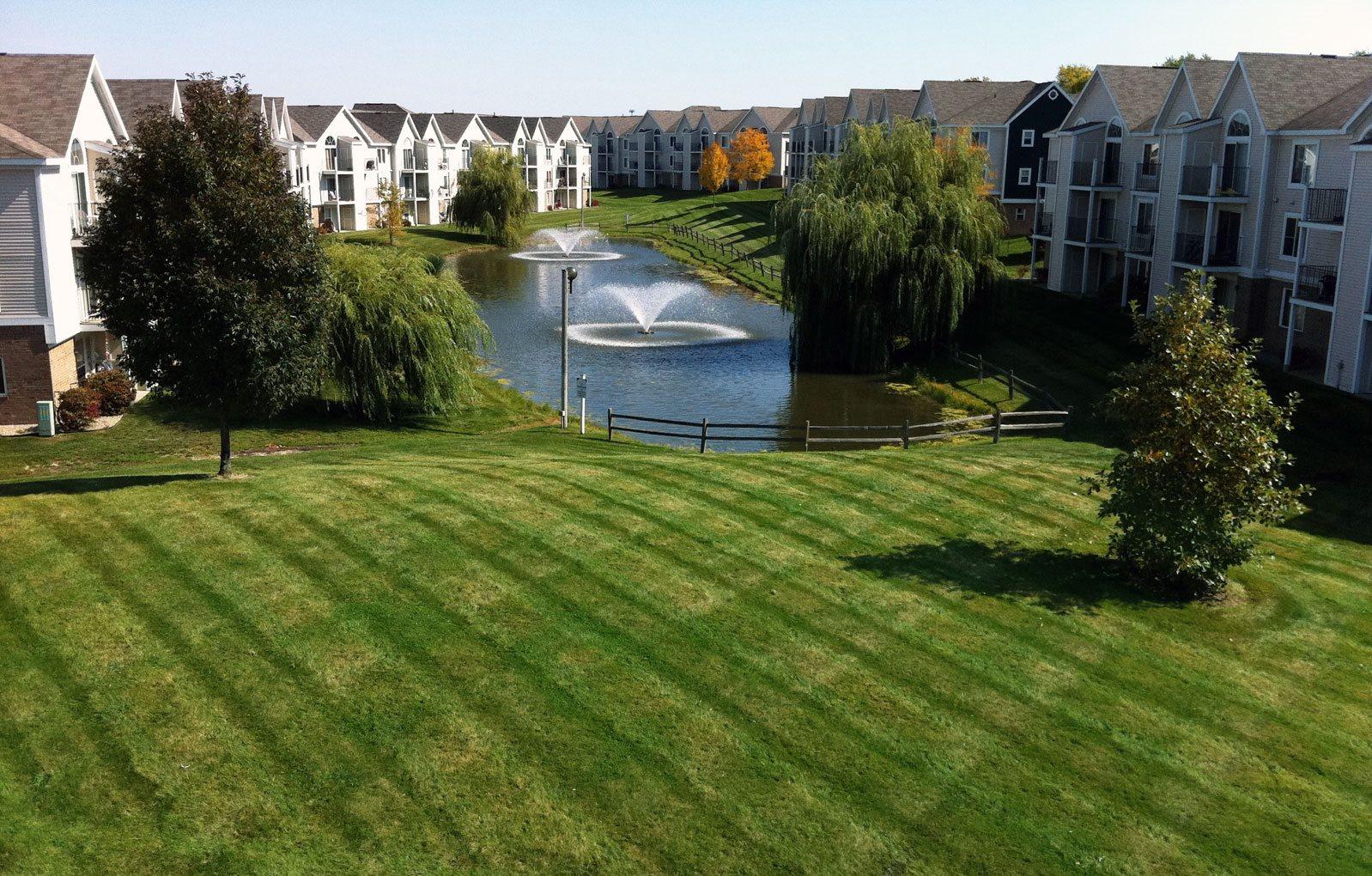 Beautiful Park Like Setting at Huntington Cove Apartments, Merrillville, Indiana 46410