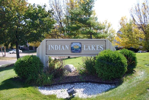Property Signage at Indian Lakes Apartments, Mishawaka, 46545
