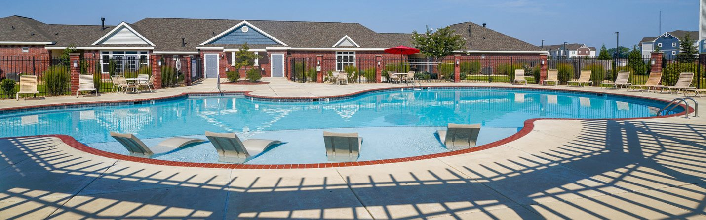 In-Water Pool Lounge Chairs at Limestone Creek Apartment Homes, 35756