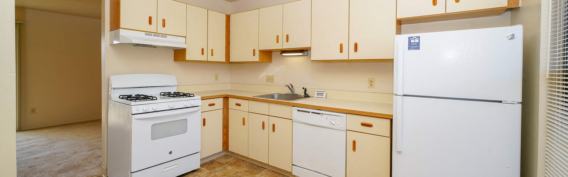 Efficient Appliances In Kitchen at Mount Royal Townhomes, Kalamazoo, MI, 49009