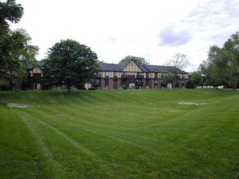 Acres of Manicured Lawns at Old Farm Apartments, Elkhart, 46517