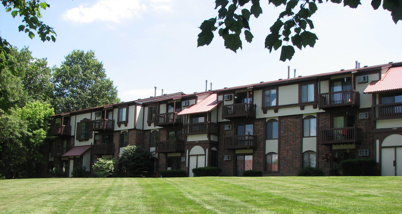 Property Entrance at Old Farm Apartments, Indiana