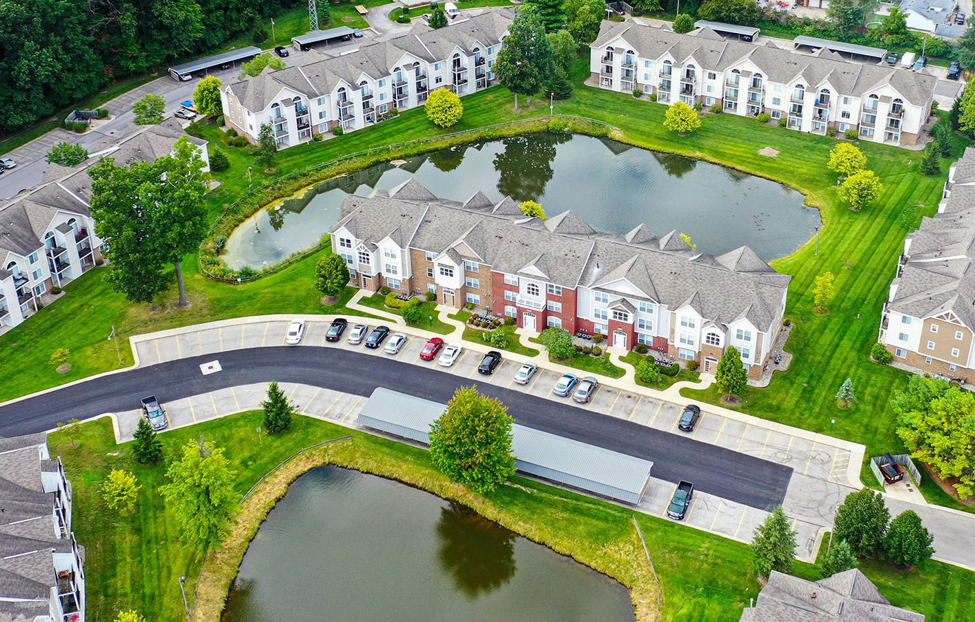 Aerial View of Apartments at Orchard Lakes Apartments, Toledo, OH