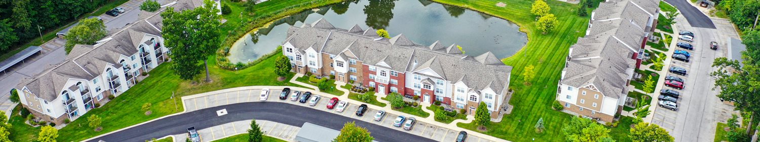 Aerial View of Community at Orchard Lakes Apartments, Toledo