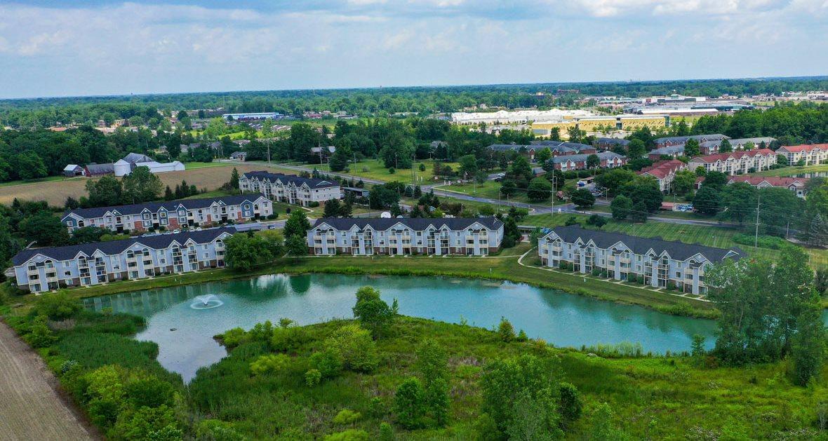 Breathtaking Pond-View at South Bridge Apartments, Fort Wayne, Indiana