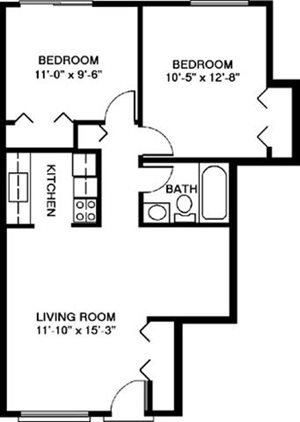 Two Bedroom Style E