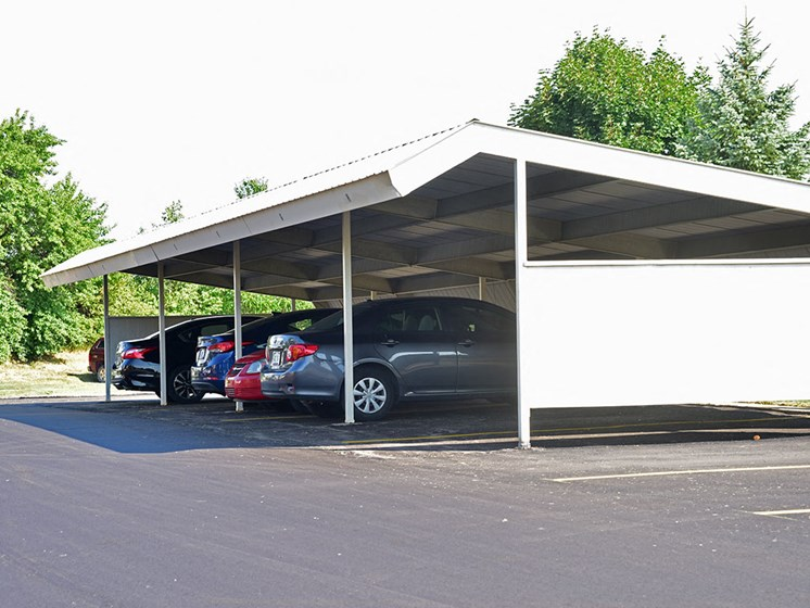 Covered Carports at Thornridge Apartments, Grand Blanc, Michigan
