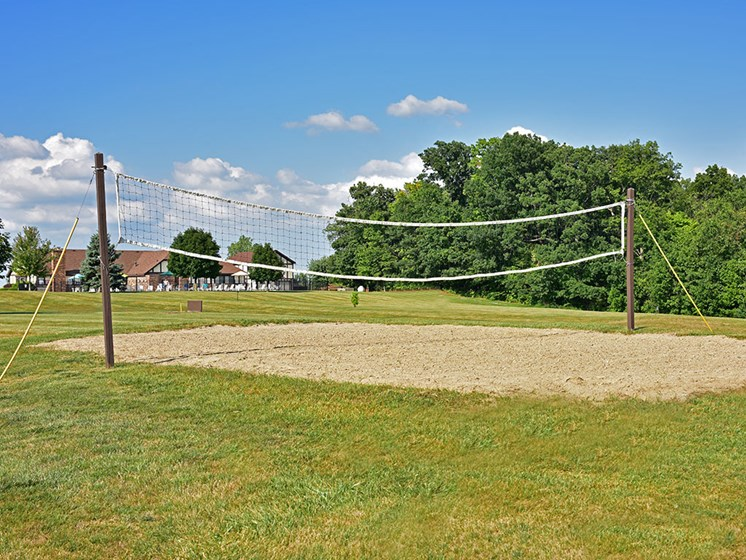 Sand Volleyball Court at Thornridge Apartments, Michigan