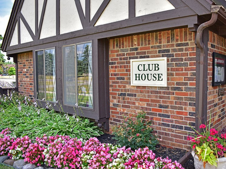 Clubhouse Exterior at Charter Oaks Apartments, Michigan, 48423