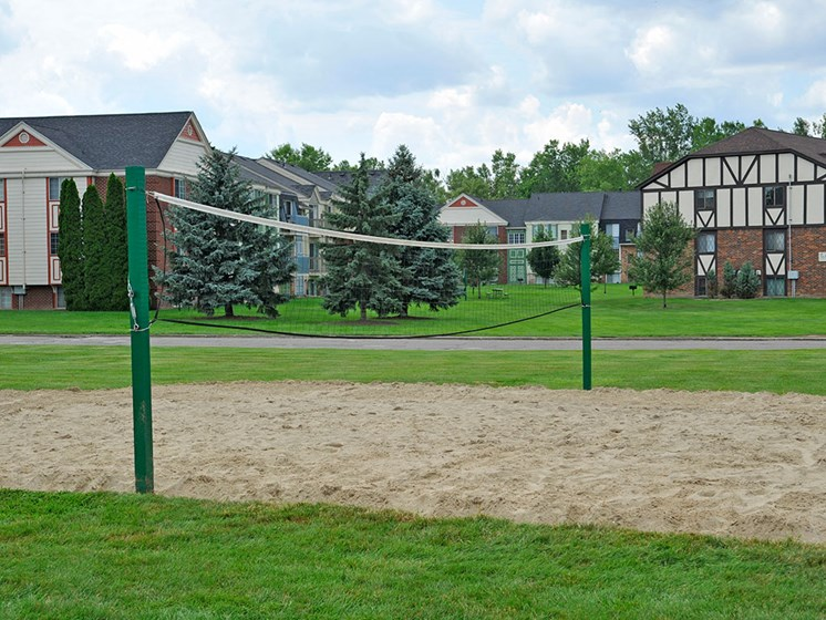 Sand Volleyball Court at Charter Oaks Apartments, Davison, 48423