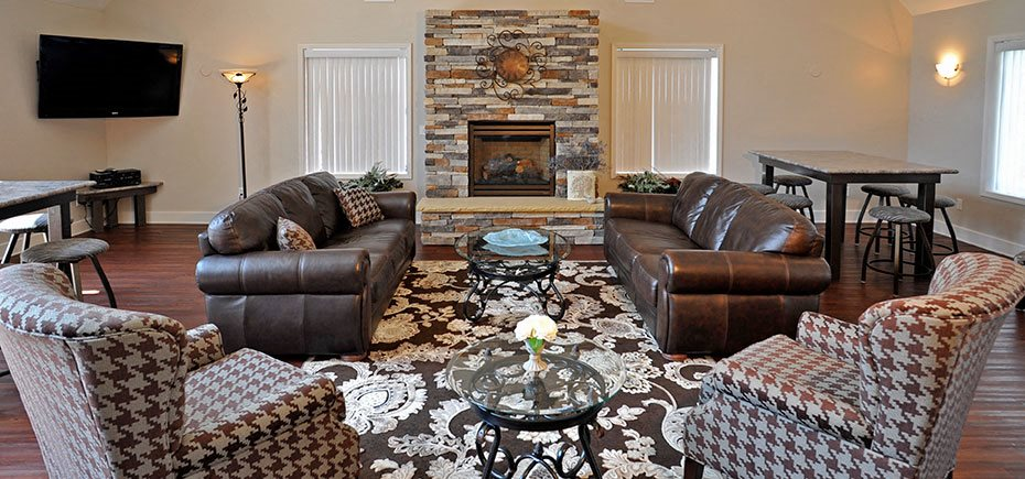 Spacious Clubhouse with a Large Screen Television and Free Wi-Fi at Shannon Manor Townhouses, Michigan, 48423
