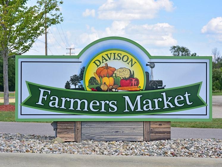 Farmer's Market at Shannon Manor Townhouses, Davison, Michigan