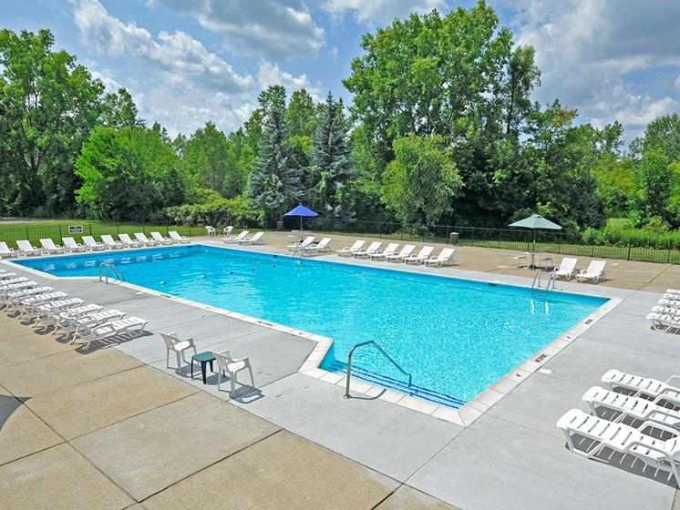 Resort-Inspired Swimming Pool at Shannon Manor Townhouses, Davison, MI