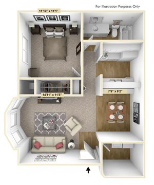 One Bedroom Mulberry