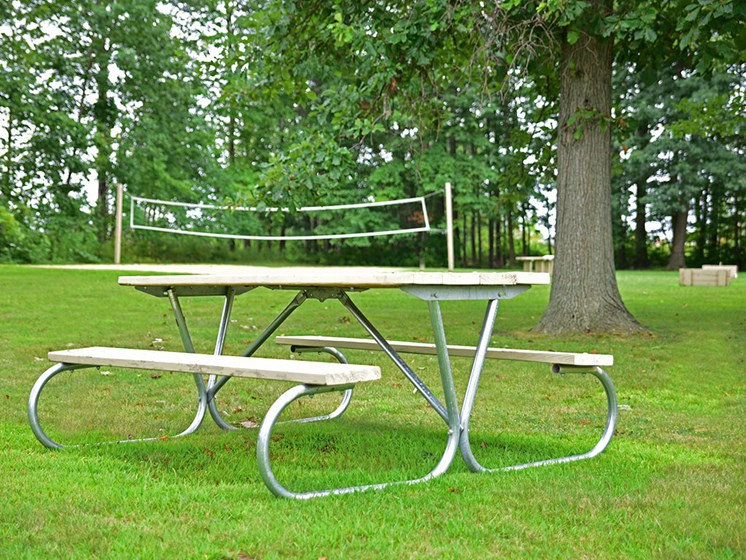 Picnic Tables at Tanglewood Apartments, Wisconsin