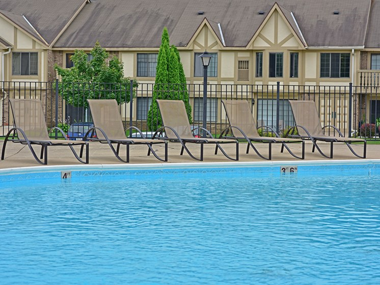 Poolside Sundeck at Tanglewood Apartments, Oak Creek, WI