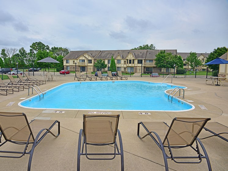 Large Outdoor Pool and Sundeck Areaat Tanglewood Apartments, Oak Creek, 53154